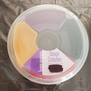 6 pc Round Storage Containers NWT